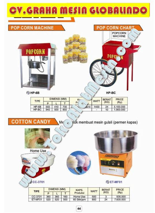 Mesin Usaha Pop Corn Machine - Catton Candy Gula Kapas