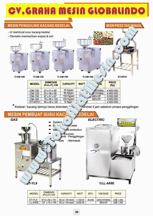 Mesin Susu Kedelai - Alat Untuk Membuat Sari Kedelai - Sari Kacang Kedelai - Mesin Usaha Susu Kedelai