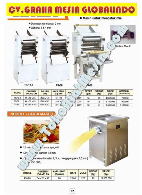 Mesin Pencetak Mie - Cara Membuat Mi - Mesin Giling Serba Guna