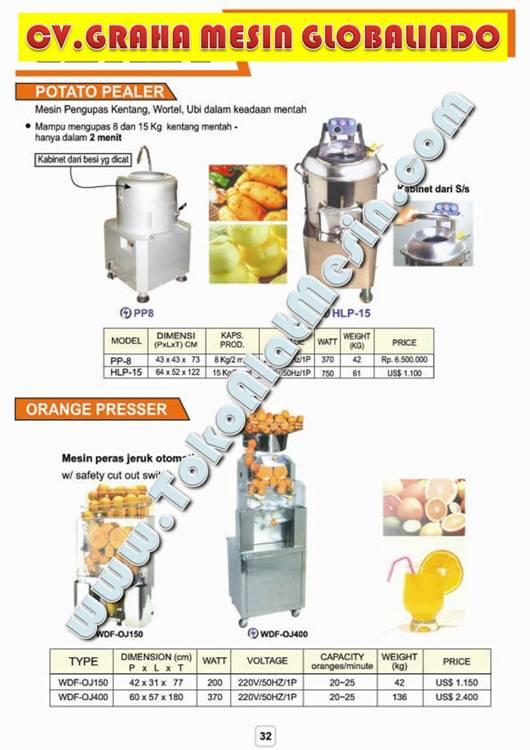 4%20ORANGE%20PRESSER Jual Mesin Es Sari Tebu   Pemeras Tebu   Jus Sari Buah   Pemeras Buah   Juicer   Juice Extractor