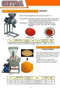 Mesin Penggiling (Basah & Kering)