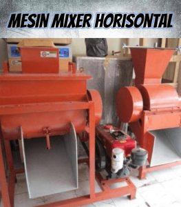 mesin mixer pakan ternak horisontal