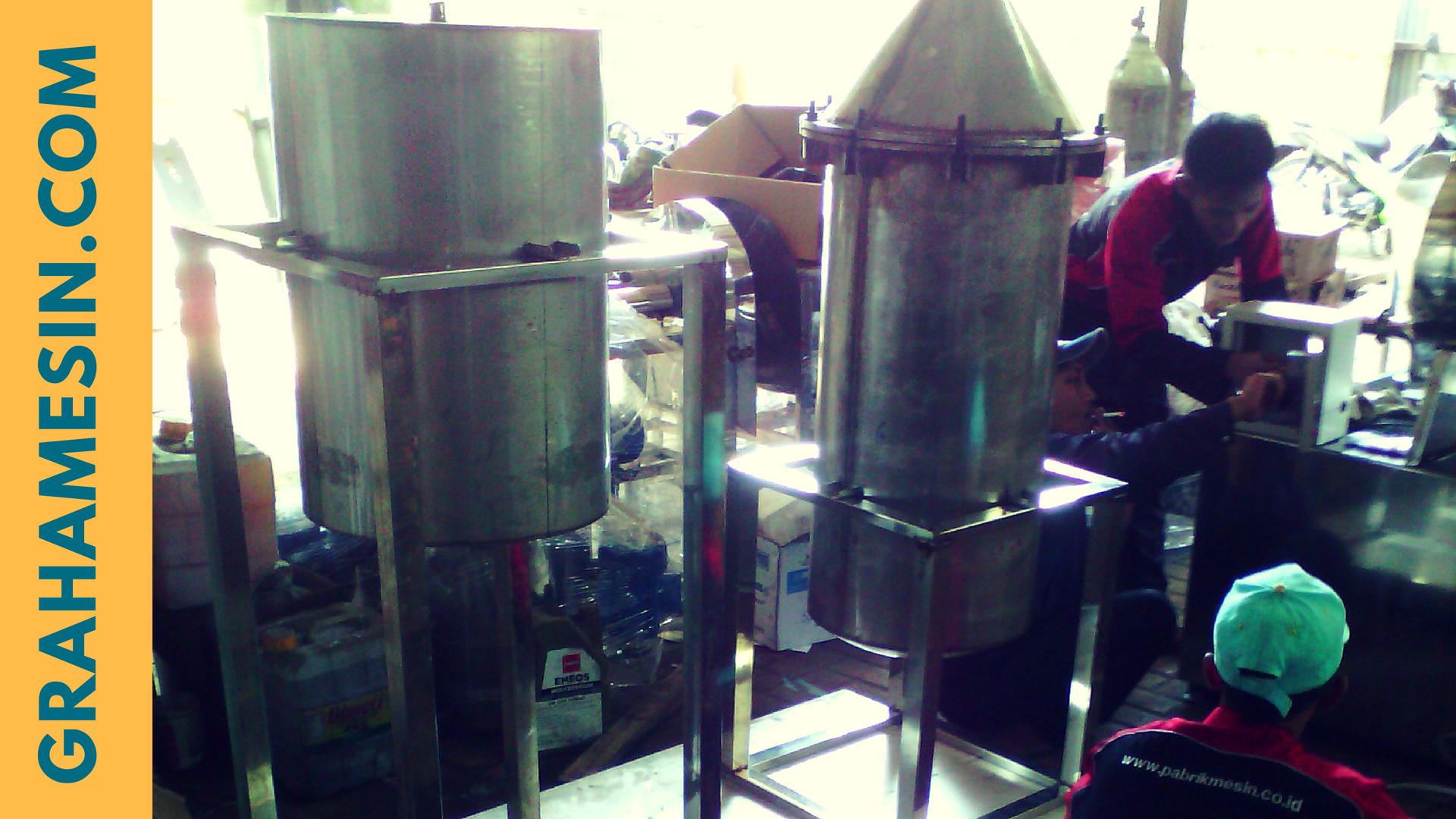 mesin destilasi minyak atsiri sistem kukus 2