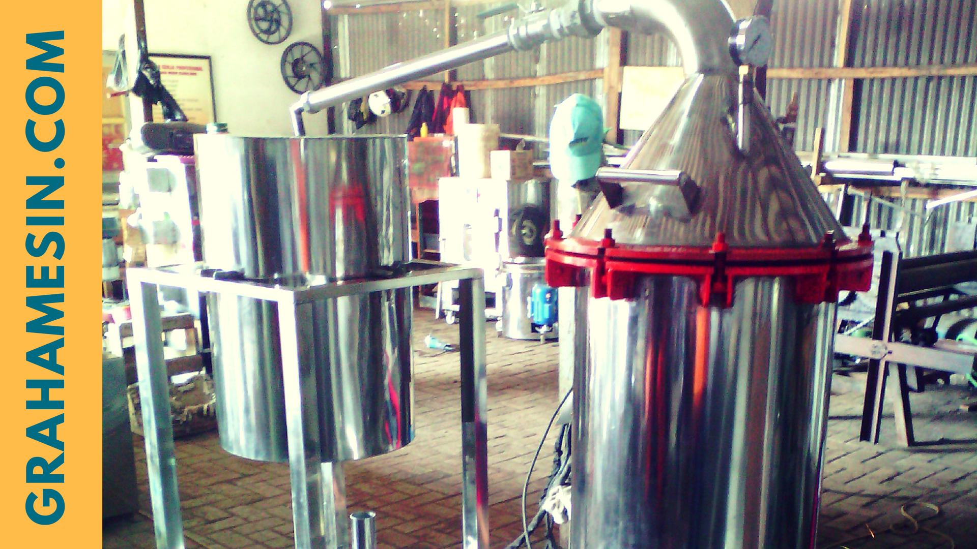 mesin destilasi minyak sistem kukus