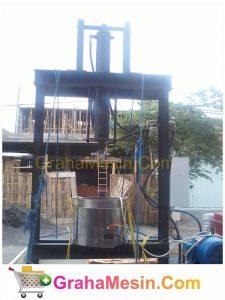 Mesin Pengempa Lemak Mekanis Buah Kakao